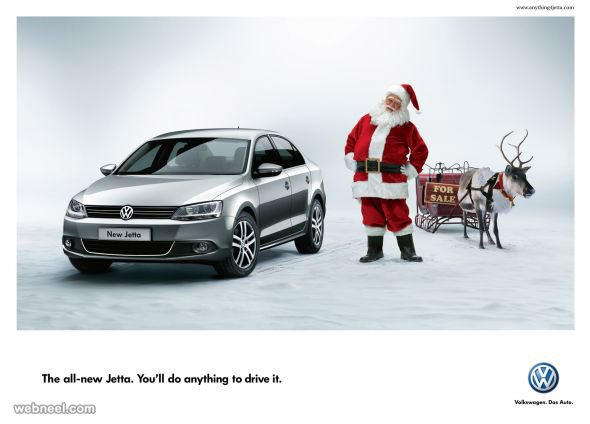 christmas ads jetta_santa