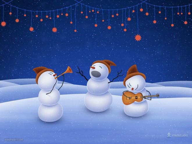 snowmanchristmas wallpaper