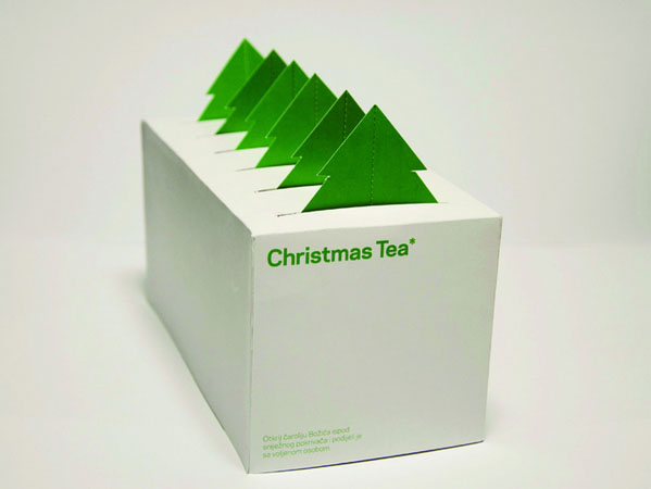 christmas packaging design tea bag