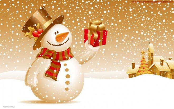 snowman vector gold wallpaper