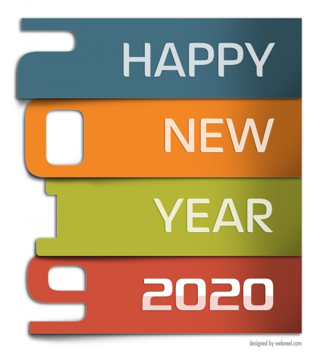 new year greeting card 2020