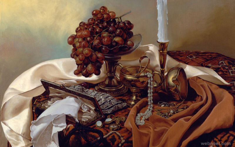 still life fruit painting