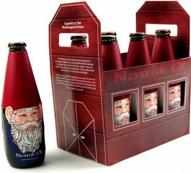christmas packaging design bottle