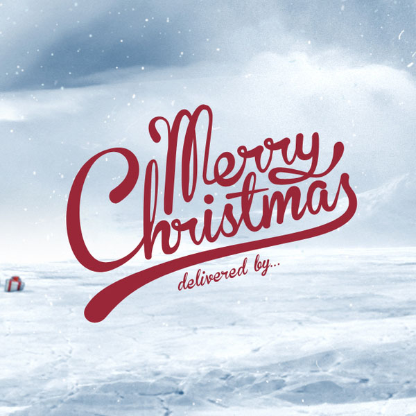 christmas typography 1