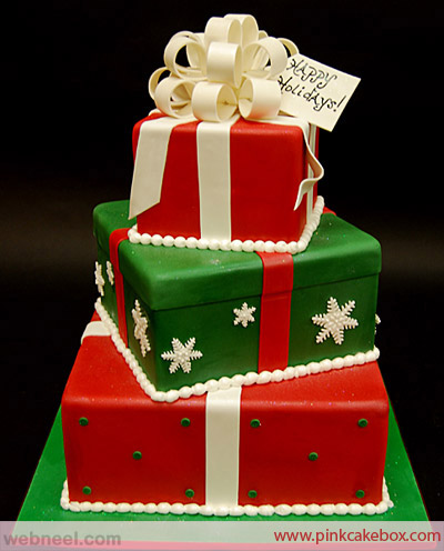 christmas cake decorating