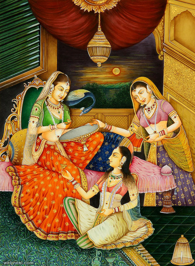 mughal paintings women