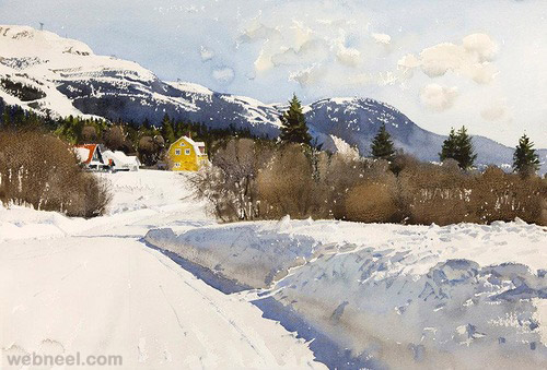 realistic watercolor painting stanislaw