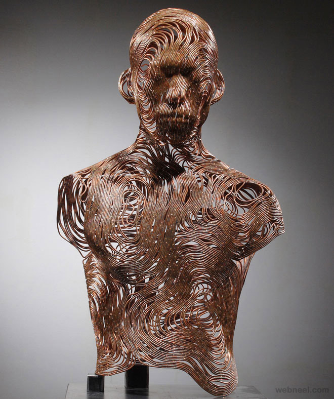 wire sculpture seung mo park