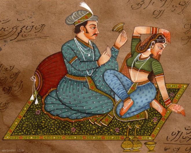 mughal paintings love