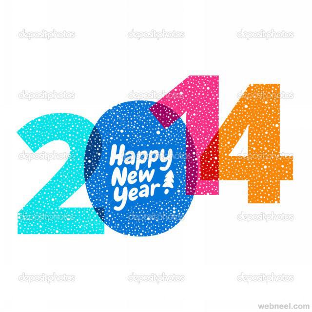new year greeting card 2014