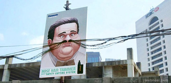 outdoor advertising ideas trimmer