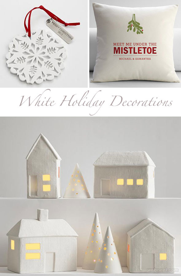 white holiday decorations