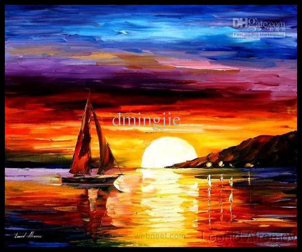 sunrise painting