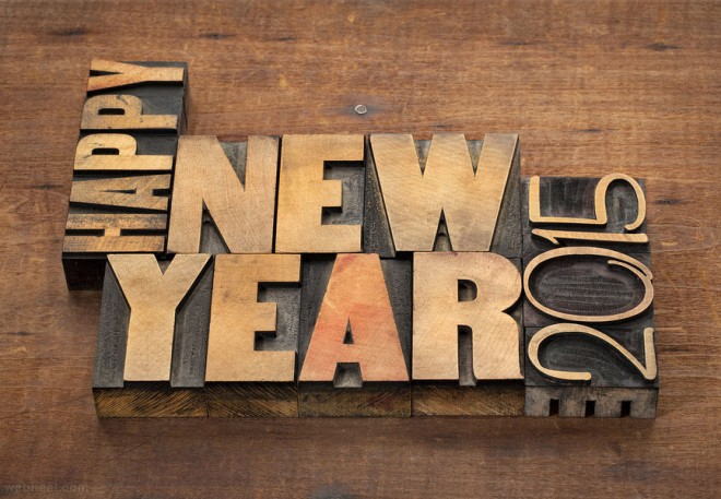 new year greeting card 2015
