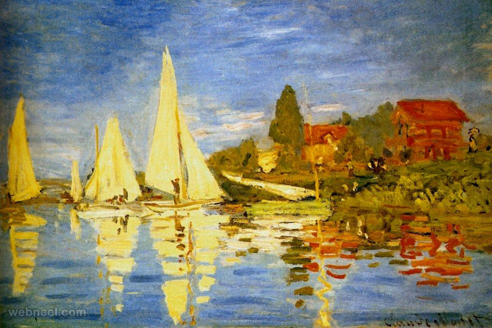painting claude monet