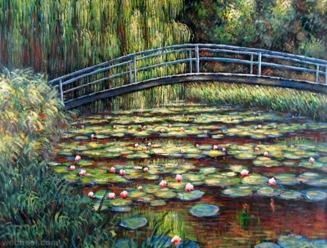 monet water lily painting