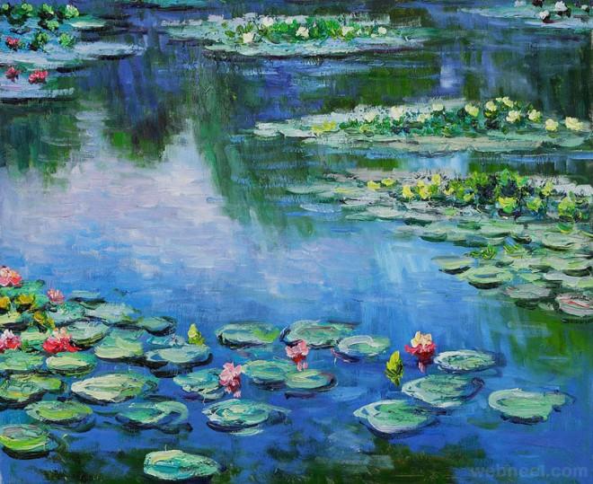 monet water lily art