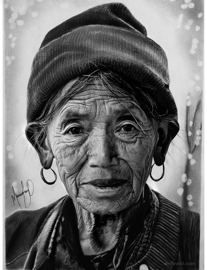 portrait drawing by mauriciofortunato