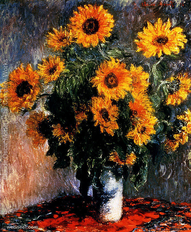 sun flower claude monet painting