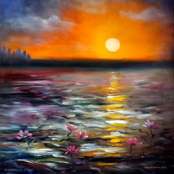 sunset painting gorna