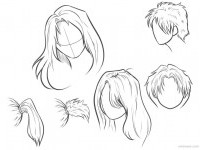 draw anime hair