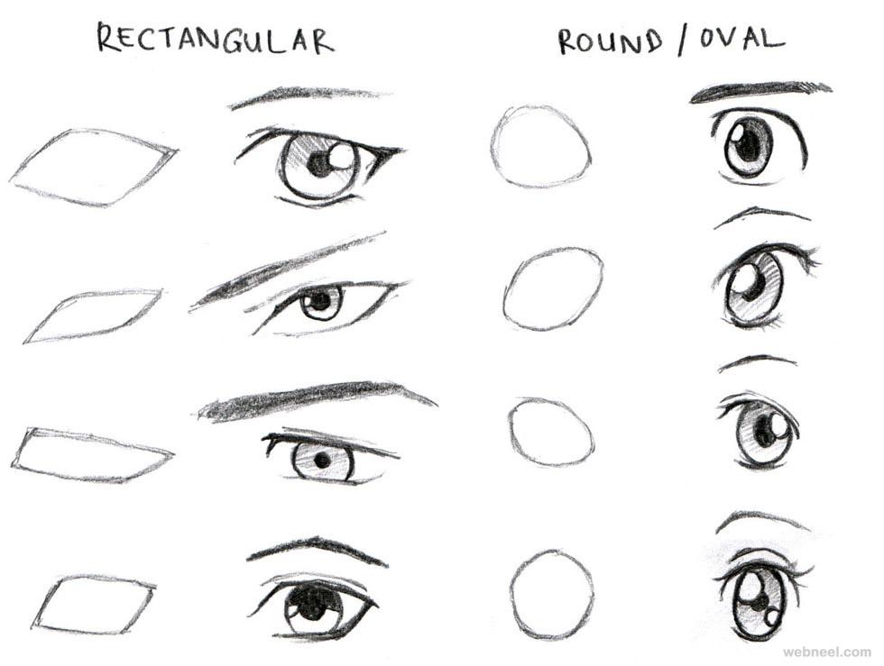 anime drawings eyes