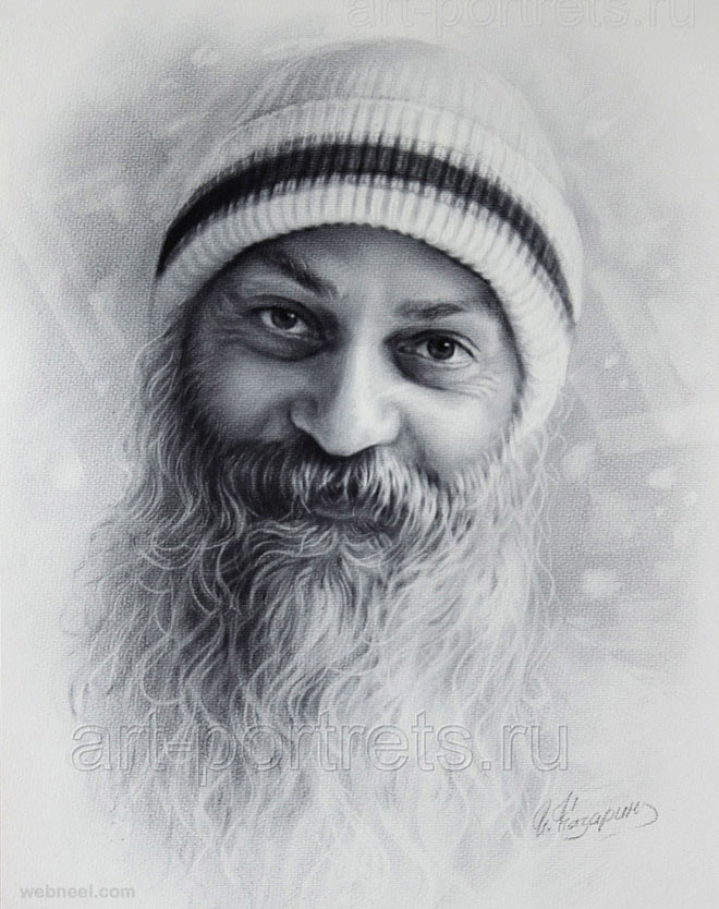 portrait drawing osho