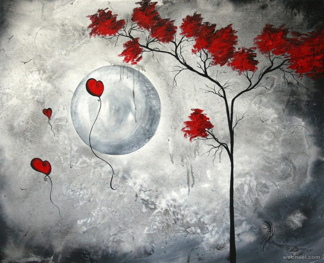 moon painting madart