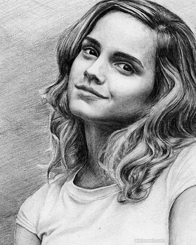 portrait drawing emma