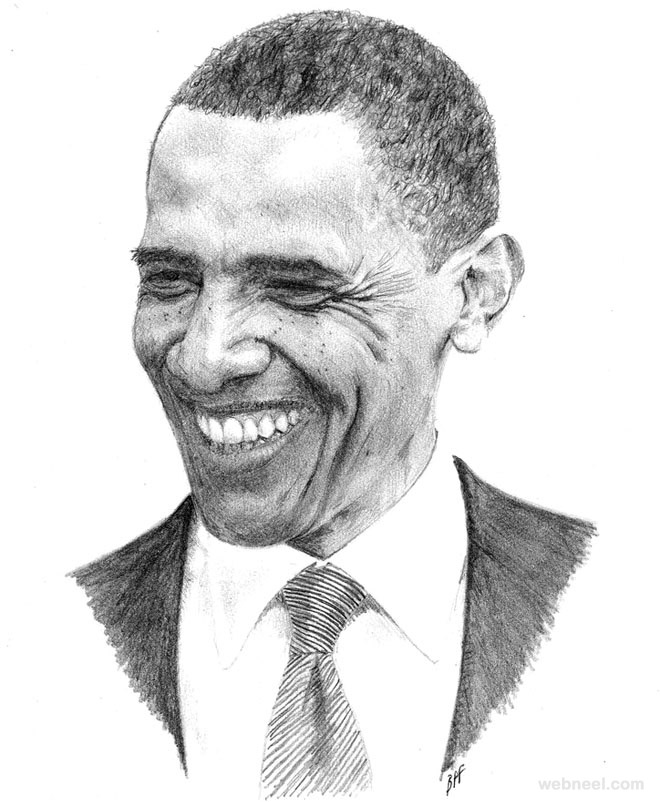 portrait drawing obama bpfsketch
