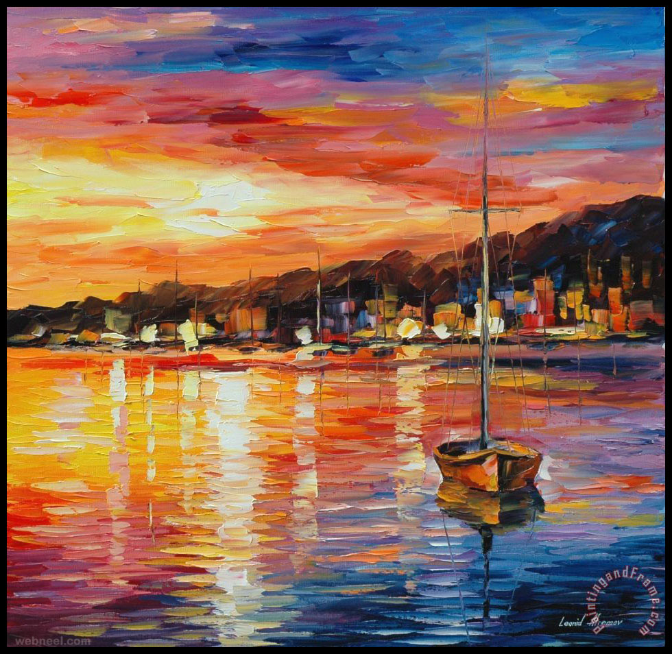 Sunrise Painting Art