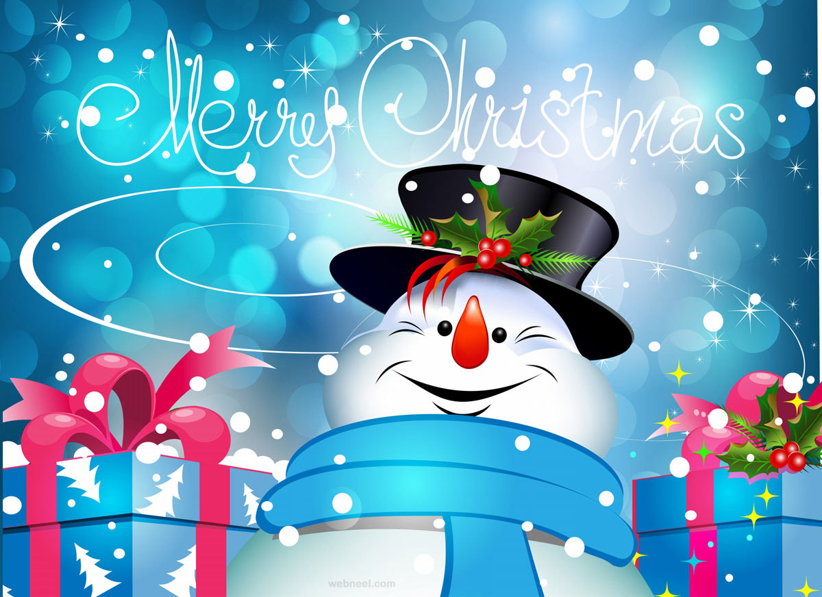 christmas greetings snowman