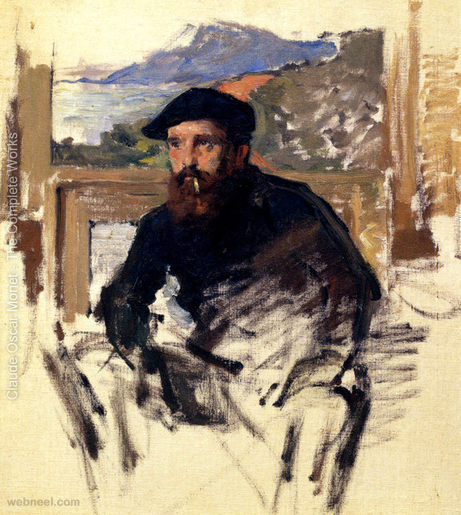 self portrait claude monet painting