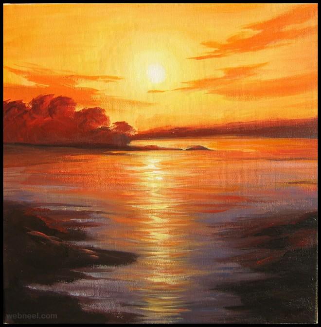 sunrise painting art