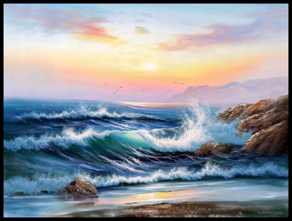 sunrise painting artwork