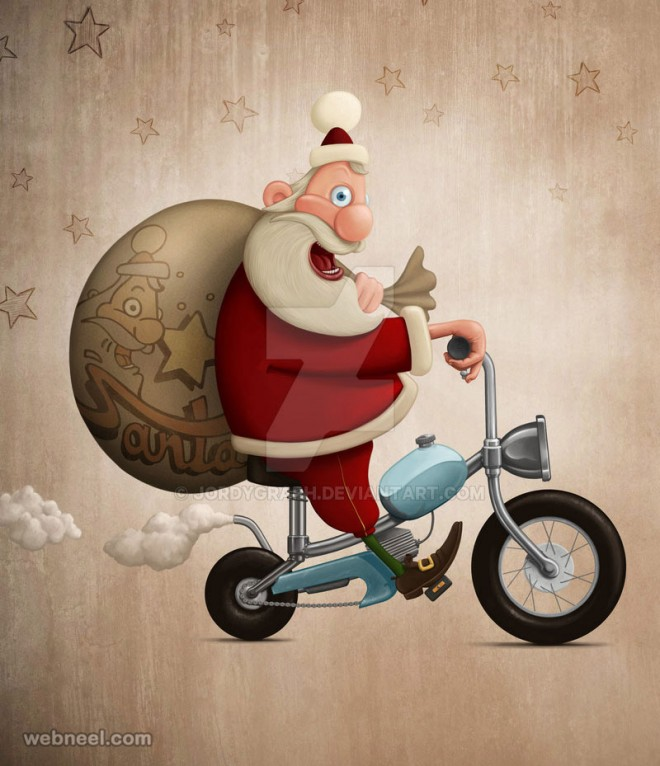 santa claus pictures digital art by jordygraph