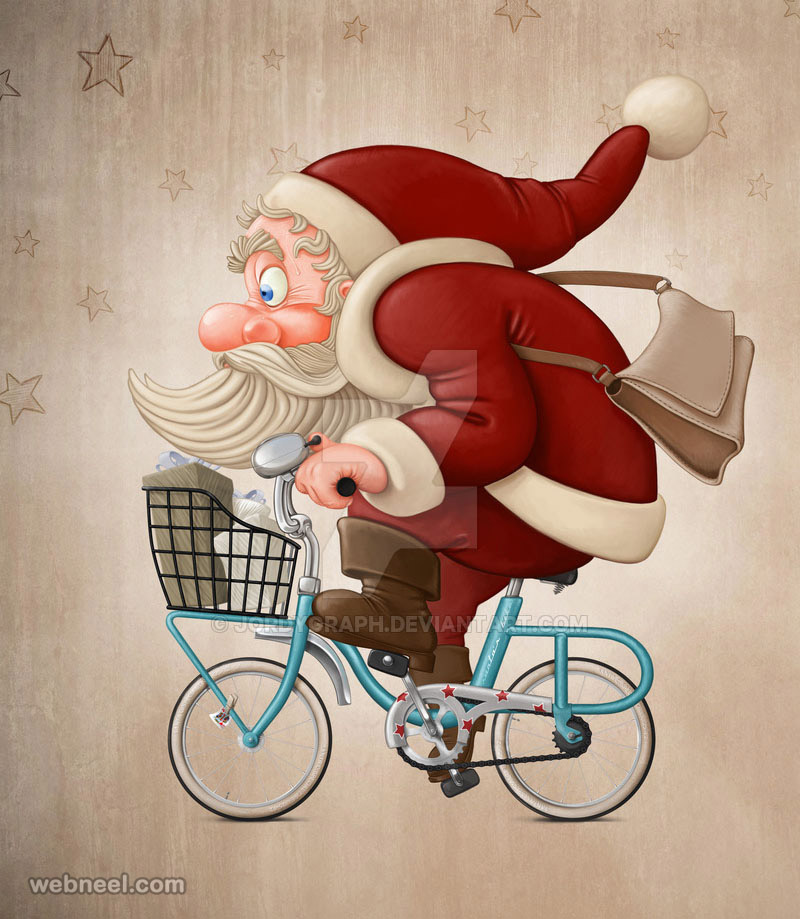 santa claus pictures digital art