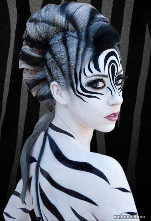 beautiful body art painting