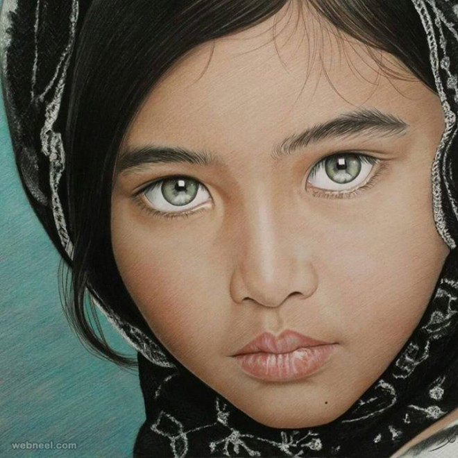 beautiful color pencil drawing by rapheal pinon