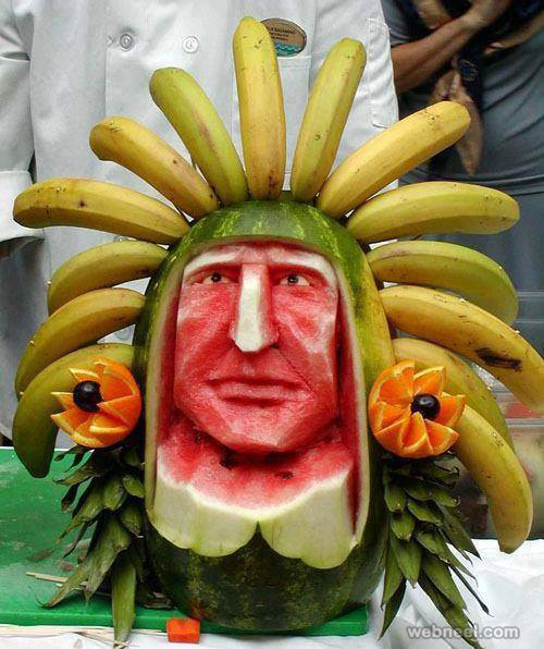beautiful fruit art