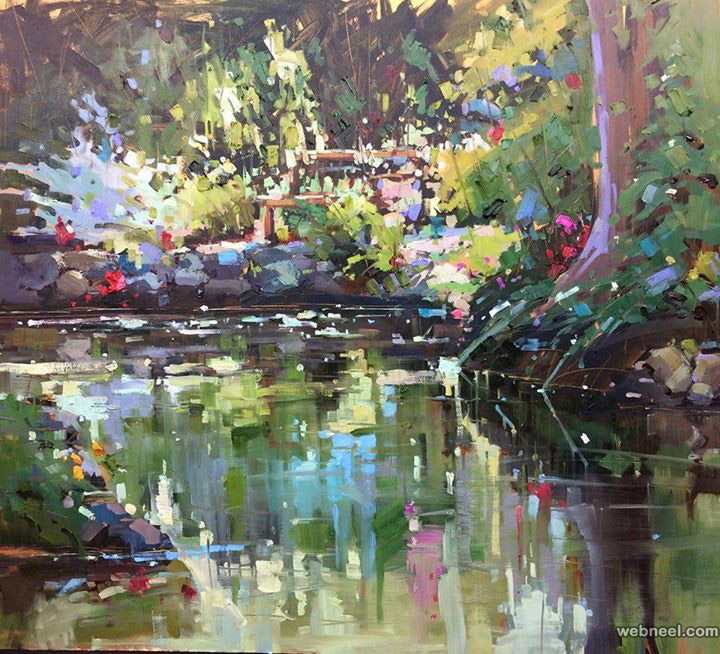 nature oil painting by michele hampson usibelli