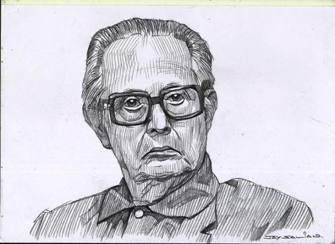 rklaxman pencil drawing by jay salian