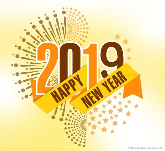 new year greeting card design 2020
