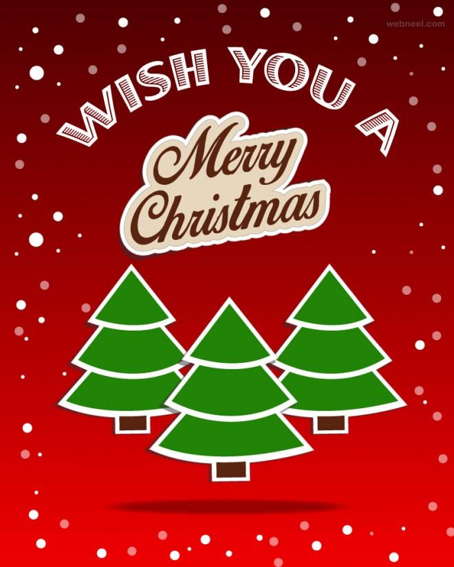 tree christmas greeting card design