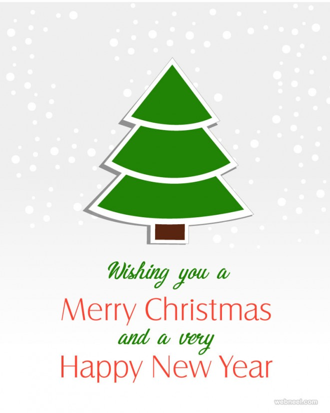 tree christmas greeting card design