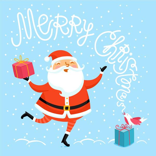 christmas greeting card design santa