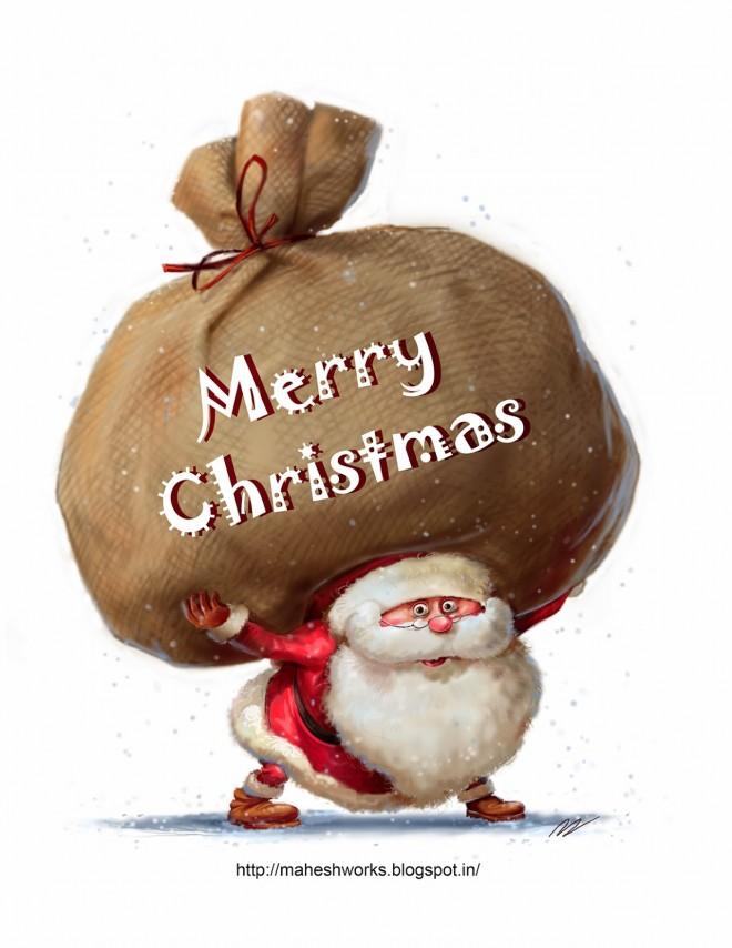 christmas greeting card design by mahesh nambiar