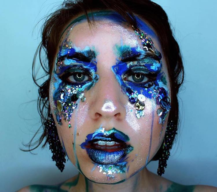 Vancouver Based Makeup Artist Uses Her Face As A Canvas For