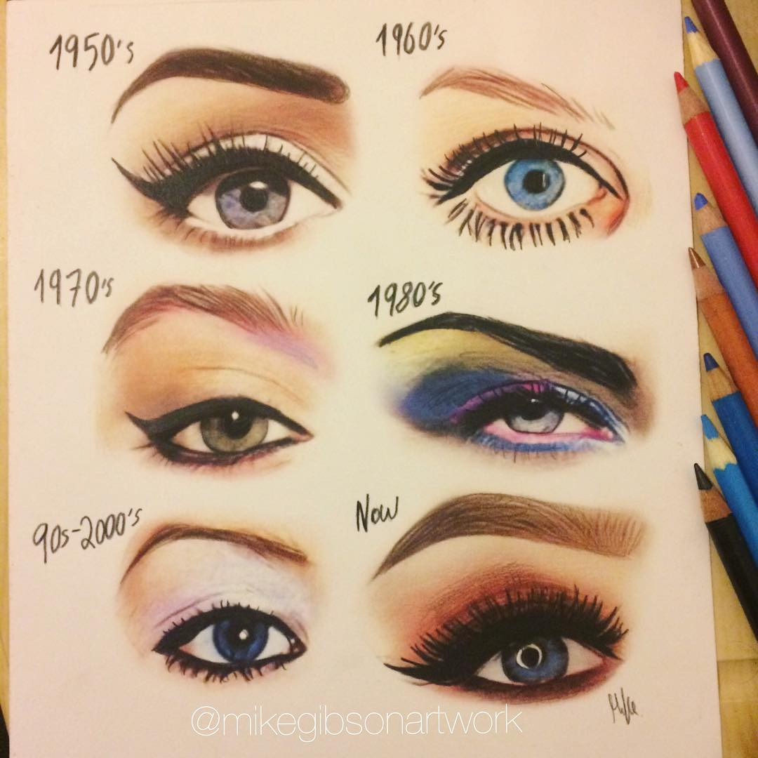 eyeshadow color pencil drawing by mike gibson