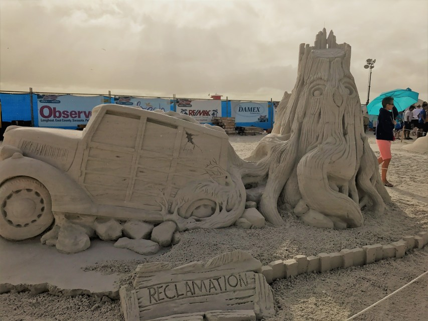 reclamation sand sculpture by steve topazio   and ron